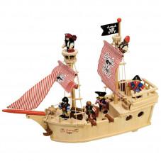bateau de pirate en bois tidlo 3 ans