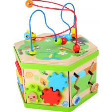 cube d'activités jouet d'éveil en bois