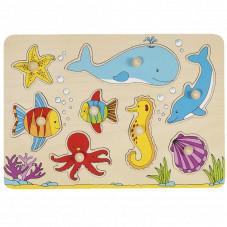 Encastrement puzzle monde marin