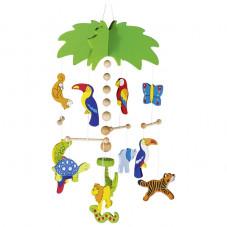 mobile palmier en bois goki cadeau de naissance