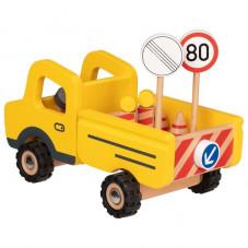 Véhicule de chantier en bois jouet en bois jouet d'imitation