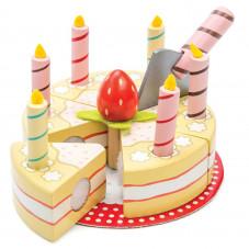 gateau d'anniversaire en bois toy van