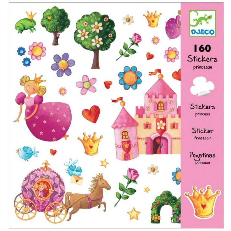 stickers princesses de djeco loisir créatif