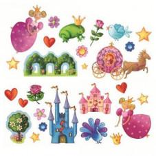 stickers muraux princesses djeco