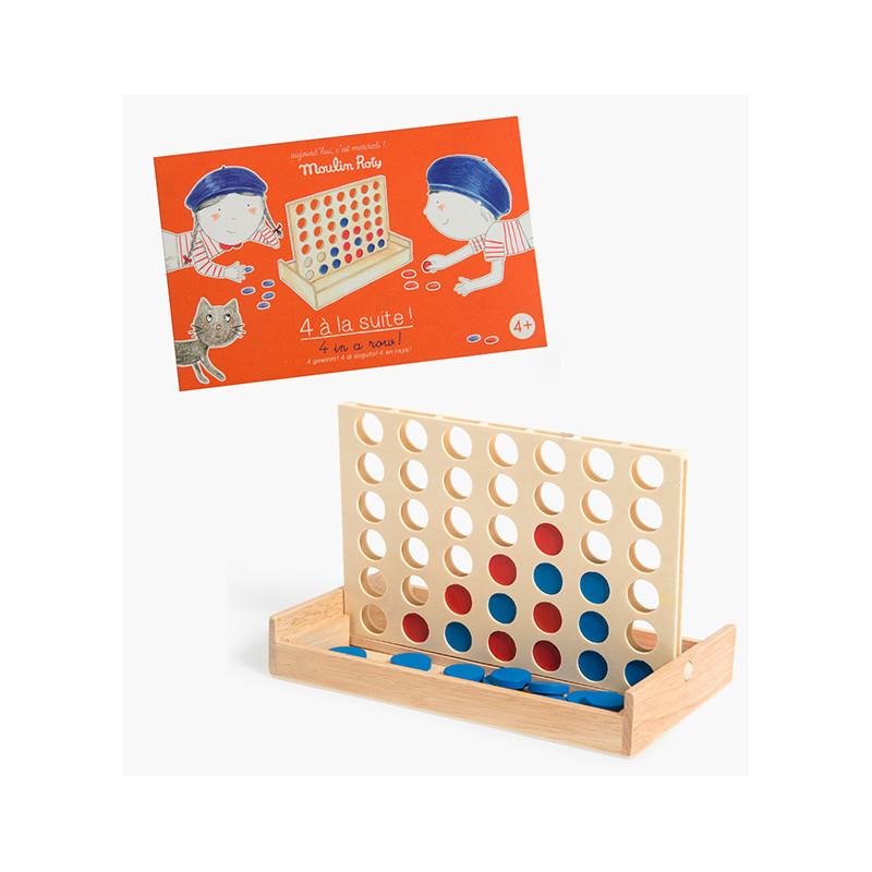 jeu 4 à la suite en bois moulin roty