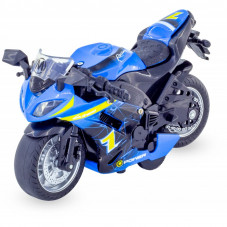 moto miniature bleue