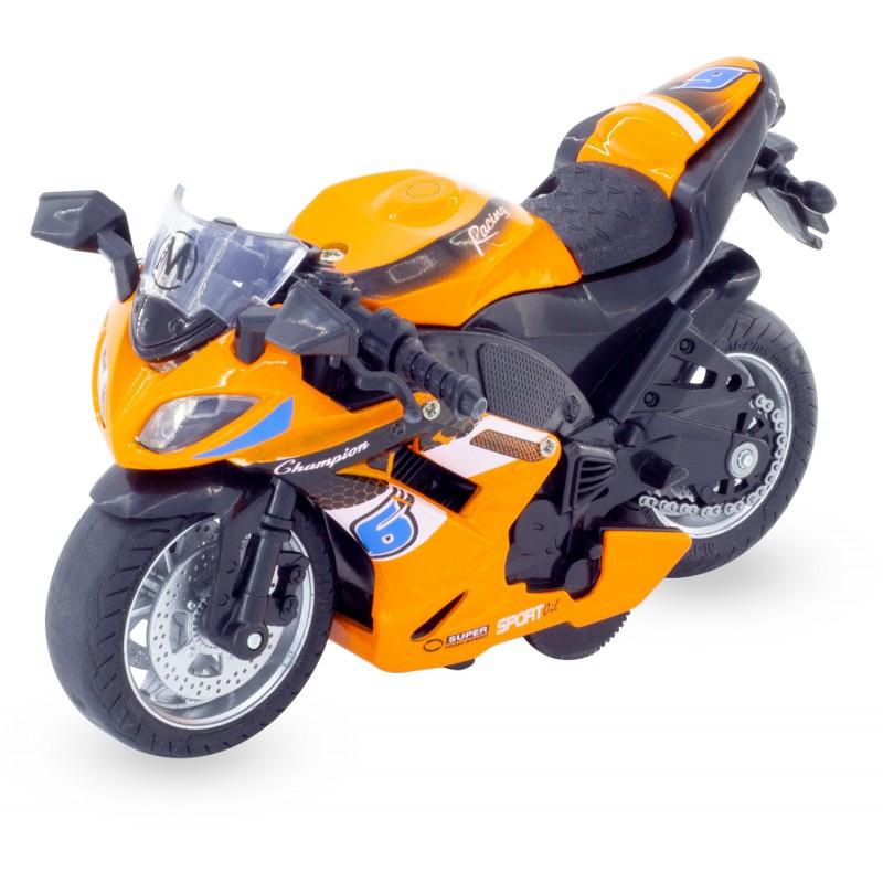moto de sport orange 3 ans ulysse