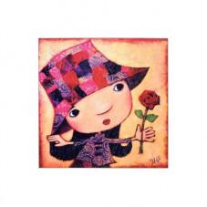 Jeune fille à la rose puzzle
