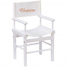 fauteuil metteur en scène blanc moulin roty brodé au prénom