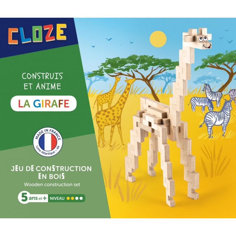 girafe à construire en bois cloze