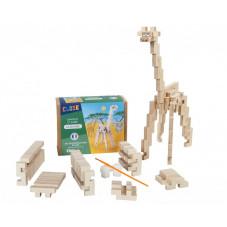 girafe en bois fabriquée en france