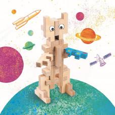 robot en bois cloze