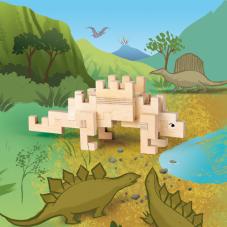 stégosaure en bois cloze