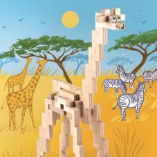 girafe cloze en bois