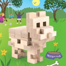 chien en bois cloze
