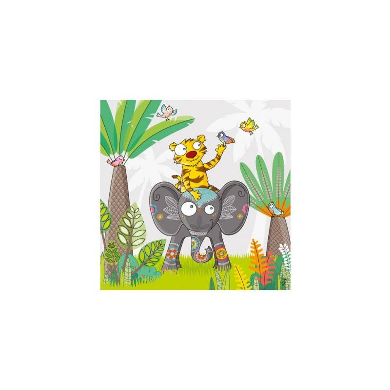 tableau à dos d'éléphant érie golo