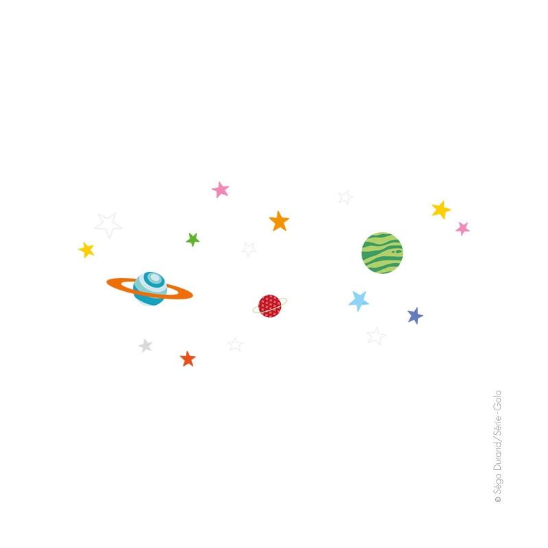 stickers planètes et étoiles