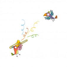 stickers perroquet série golo