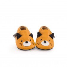 chaussons cuir chat moulin roty
