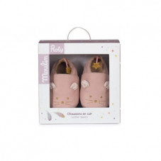 chaussons cuir fille