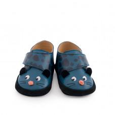 chaussons cuir panthère