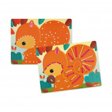 cartes à lacer animaux janod