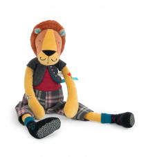 peluche lion broc'n roll moulin roty