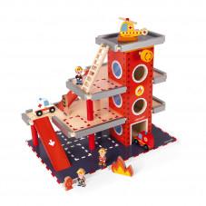 caserne de pompiers bois