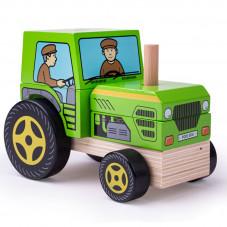 tracteur empilable bois