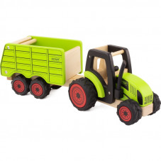 tracteur et remorque bois
