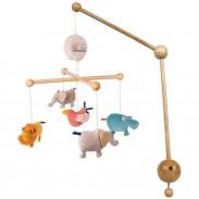Mobile musical - Décoration et éveil chambre bébé - Polipetitpois