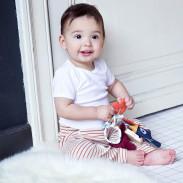 Hochet bébé - jouet d'éveil - cadeau de naissance - Polipetitpois