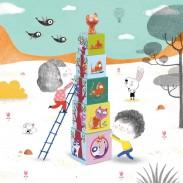 Cubes enfants - Jouet d'éveil - Cubes a empiler -  Polipetitpois