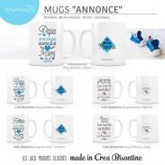 Tasses personnalisées Labeltour - cadeau original - Polipetitpois